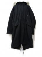BEAUTY&YOUTH(ビューティーアンドユース)の古着「3WAYモッズコート」|ブラック