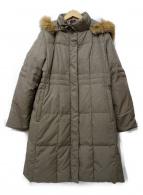BALMAIN(バルマン)の古着「ブルーフォックスファーダウンコート」|ベージュ