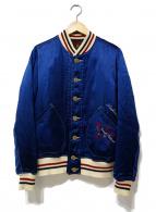 Hysteric Glamour(ヒステリックグラマー)の古着「ガール刺繍スカジャン」|ネイビー