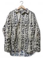 AiE(エーアイイー)の古着「Painter Shirt  Art Stripe Moti」|ホワイト