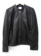 UNITED TOKYO()の古着「ラムレザーシングルライダースジャケット」|ブラック
