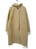 LOUNIE(ルーニー)の古着「レッキスファーフード付コート」 ベージュ
