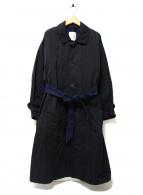 Antgauge(アントゲージ)の古着「バイカラーステンカラーコート」|ブラック
