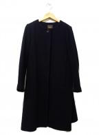 Demi-Luxe Beams(デミルクス ビームス)の古着「バックフレアノーカラーコート」 ブラック