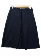 MARGARET HOWELL(マーガレットハウエル)の古着「リネン混スカート」|ネイビー
