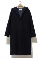 ()の古着「ウールフーデッドコート」 ネイビー