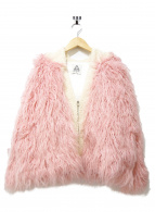()の古着「ボアジャケット」 ピンク