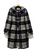 LONDON Tradition(ロンドントラディション)の古着「ノーカラートグルボタンコート」|グレー
