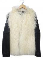 DOUBLE STANDARD CLOTHING(ダブルスタンダードクロージング)の古着「ラムファー切替レザージャケット」 ブラック