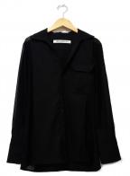 TARO HORIUCHI(タロウホリウチ)の古着「シアーシャツ」 ブラック