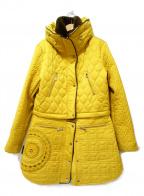 Desigual(デシグアル)の古着「2way刺繍キルティングコート」|イエロー