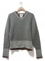Black Fleece(ブラックフリース)の古着「カシミヤ混ニット」|グレー