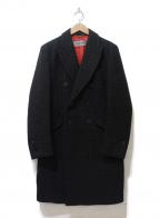 ms braque(エムズ ブラック)の古着「ダブルコート」 ブラック