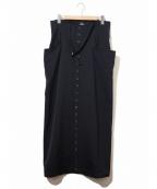 Y's YOHJI YAMAMOTO(ワイズ ヨウジヤマモト)の古着「[OLD]ホルターネックサロペットワンピース」 ネイビー