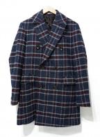 SUIT SELECT(スーツセレクト)の古着「ダブルチェスターコート」|ネイビー