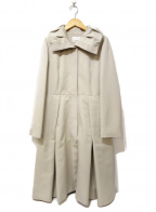 M-premierBLACK(エルプルミエラブラック)の古着「LIGHT GROGRAIN LONG COAT」 ベージュ