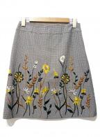DUAL VIEW(デュアル ヴュー)の古着「刺繍スカート」 グレー