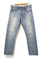 KURO×AMERICAN RAG CIE(クロ×アメリカンラグシー)の古着「デニムパンツ」|スカイブルー