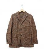 LARDINI()の古着「ツイードテーラードジャケット」|ブラウン