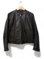 TOMORROW LAND collection(トゥモローランドコレクション)の古着「ラムレザージャケット」|ブラック
