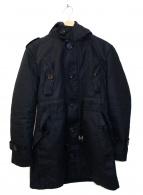 BURBERRY BLACK LABEL(バーバリーブラックレーベル)の古着「ボアライナー付モッズコート」 ブラック