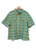 Leilian(レリアン)の古着「シワ加工半袖シャツ」 グリーン