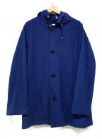 Traditional Weatherwear()の古着「DERBY HOOD ステンカラーコート」 ネイビー