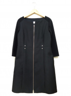 courreges(クレージュ)の古着「ノーカラーコート」|ブラック