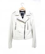 REPLAY(リプレイ)の古着「ライダースジャケット」|ホワイト