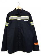 HERON PRESTON(ヘロンプレストン)の古着「REFLECTOR SHIRT」|ブラック