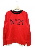 N°21 numero ventuno(ヌメロヴェントゥーノ)の古着「ロゴスウェット」|レッド
