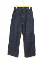 chimala(チマラ)の古着「シンチバックデニムパンツ」|インディゴ