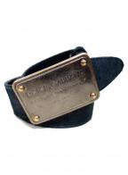 DOLCE & GABBANA(ドルチェ&ガッバーナ)の古着「ロゴプレートベルト」|ブラック