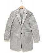 ()の古着「ビニールコーテイングコート」 グレー