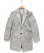 Calvin Klein platinum(カルバンクラインプラティナム)の古着「ビニールコーテイングコート」 グレー