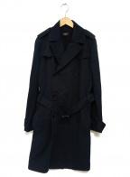 Leilian(レリアン)の古着「ジップデザインコーデュロイコート」 ネイビー