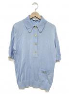 CHANEL BOUTIQUE(シャネル ブティック)の古着「半袖ニット」|スカイブルー