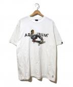 APPLEBUM(アップルバム)の古着「フライトザパワーTシャツ」|ホワイト