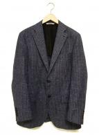 ()の古着「リネン混テーラードジャケット」|インディゴ