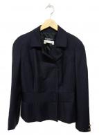 ()の古着「ジップテーラードジャケット」|ネイビー