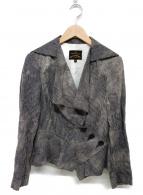Vivienne Westwood ANGLOMANIA(ヴィヴィアンウエストウッド アングロマニア)の古着「デザインジャケット」|グレー