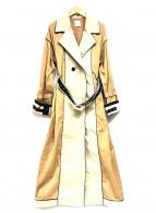 ()の古着「ロングトレンチコート」|ブラウン