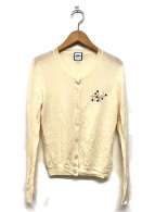 Jean Paul GAULTIER(ジャンポールゴルチエ)の古着「まち針刺繍カーディガン」|ベージュ