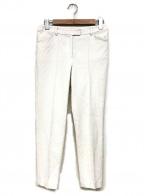 HANAE MORI(ハナエモリ)の古着「ジャガードパンツ」 ホワイト