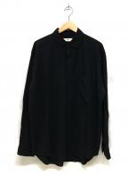 UNFIL(アンフィル)の古着「Shankar Cotton Flannel Round C」|ブラック