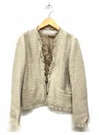 DRESSTERIOR(ドレステリア)の古着「リネン混ツイードジャケット」|ベージュ