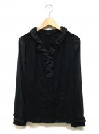 TO BE CHIC(トゥービーチック)の古着「フリル切替ブラウス」|ブラック