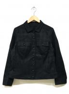 BURBERRY LONDON(バーバリーロンドン)の古着「シャドーチェックトラッカージャケット」|ブラック