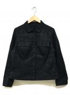 BURBERRY LONDON()の古着「シャドーチェックトラッカージャケット」|ブラック