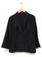 LEONARD(レオナール)の古着「シルク混花柄テーラードジャケット」 ブラック